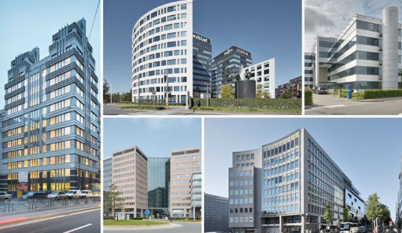 Office space in Antwerp and 46 other cities in Belgium