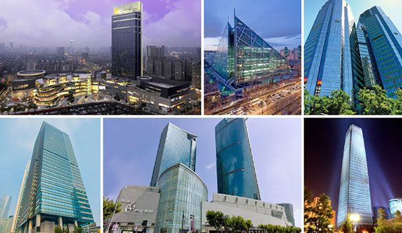 Office space in Nanjing and 120 other cities in China