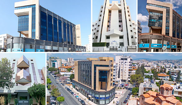 Office space in Limassol and 3 other cities in Cyprus
