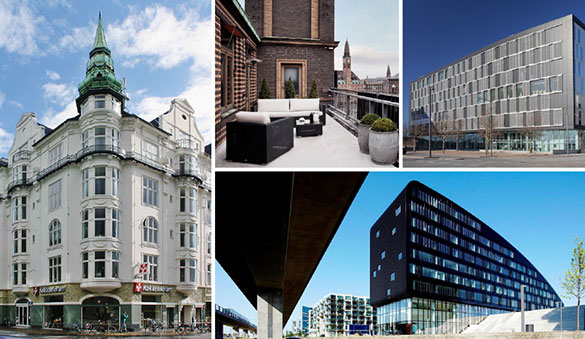 Office space in Hellerup and 14 other cities in Denmark