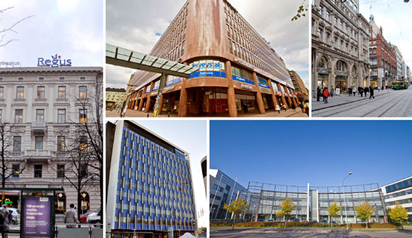 Office space in Vantaa and 27 other cities in Finland