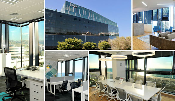 Office space in Tel Aviv and 22 other cities in Israel