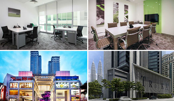 Office space in Penang and 35 other cities in Malaysia