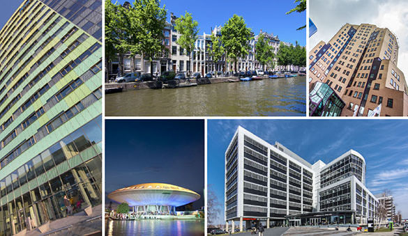 Office space in Amsterdam and 124 other cities in Netherlands