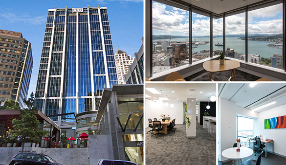 Office space in Auckland and 19 other cities in New Zealand