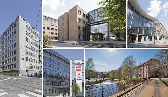 Office space in Bergen and 21 other cities in Norway