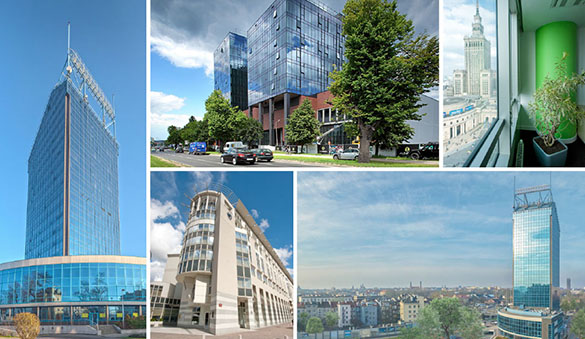 Office space in Katowice and 32 other cities in Poland