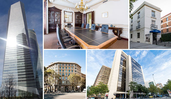 Office space in Madrid and 58 other cities in Spain