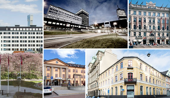 Co-working in Solna and 17 other cities in Sweden