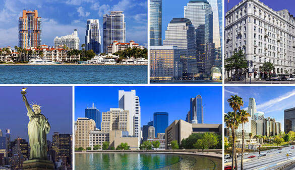 Virtual offices in Miami and 1047 other cities in United States