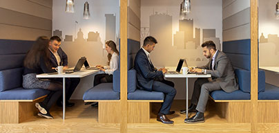 Meeting rooms with high-speed internet, WiFi included with phone equipment as needed