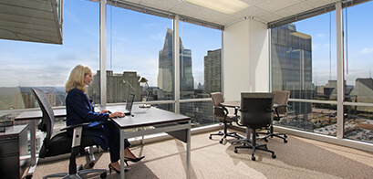 Office suites in Downtown Wells Fargo Tower are an office and meeting room combined