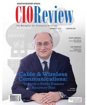 Regus Disaster Recovery Magazine Cover - CIO Review