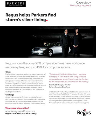 Regus Disaster Recovery Example - Parker